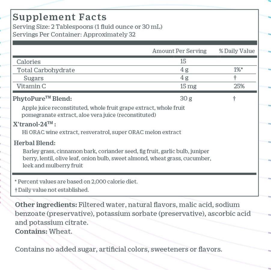 Genesis Juice Nutrition Facts